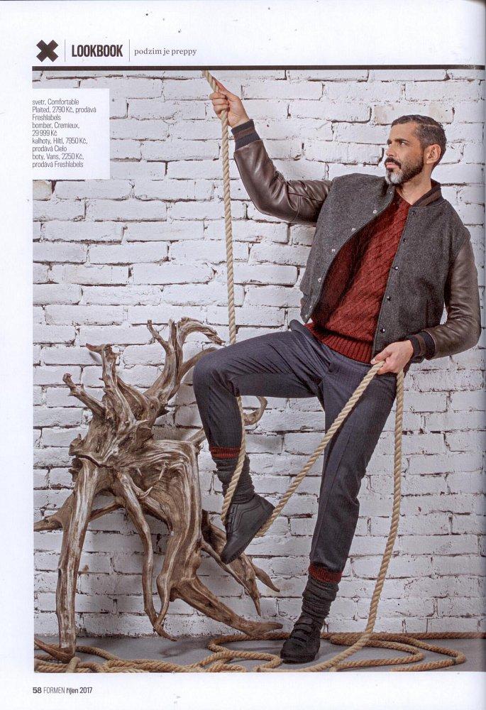 Formen - Fashion bible, říjen 2017 (kalhoty Hiltl)