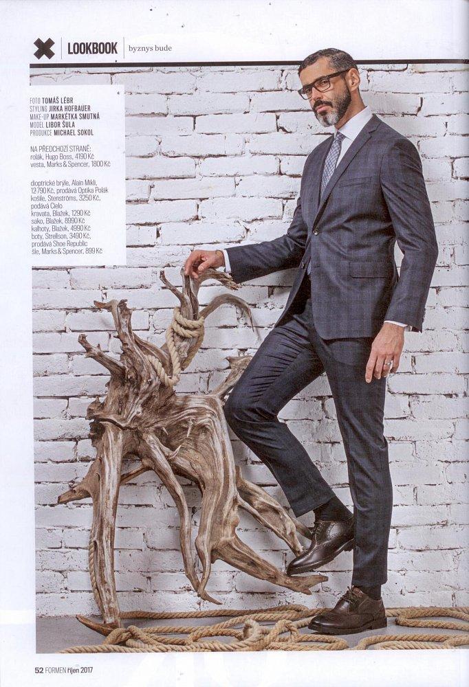 Formen - Fashion bible, říjen 2017 (košile Stenströms)