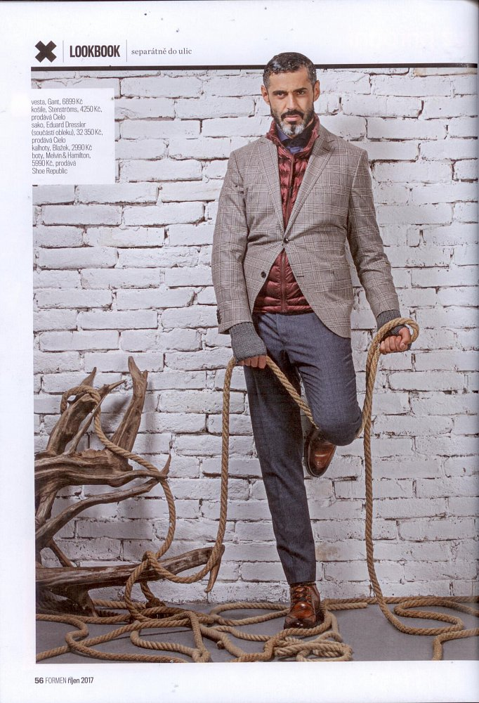 Formen - Fashion bible, říjen 2017 ( košile Stenströms, sako Eduard Dressler)